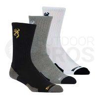 Browning Everyday Men's Crew Socks 3- Pack